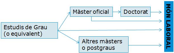 Estructura de la formació de màsters i postgraus