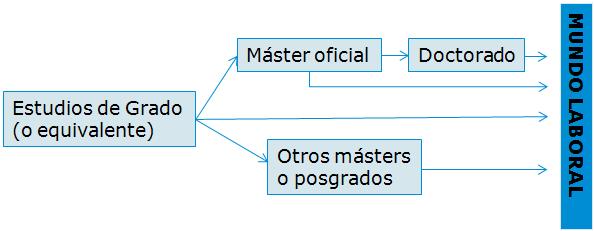 Estructura de la formación de másters y posgrados