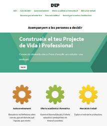 D'EP Institut estrena una web para ofrecer orientación académica y profesional en línea