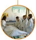 Las profesoras del CFGM en Cuidados Auxiliares de Enfermería